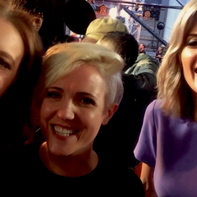grace helbig hannah hart red carpet
